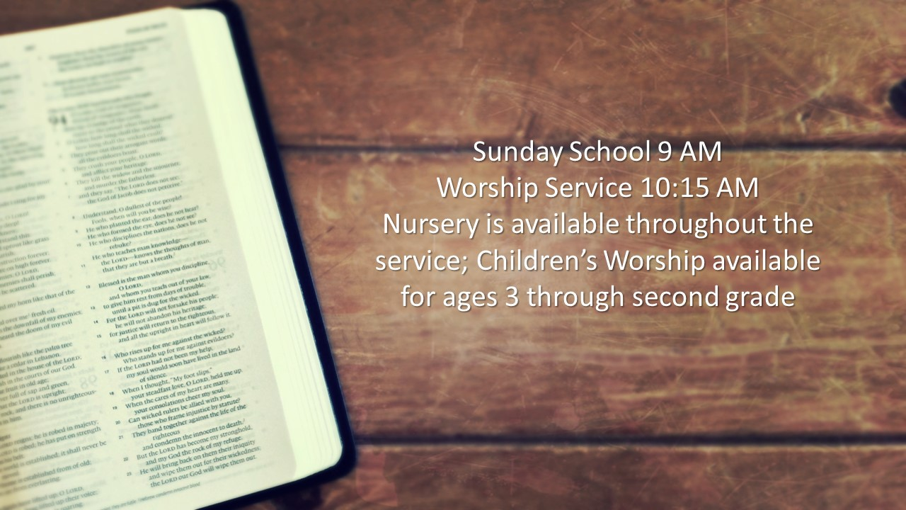 Worship service graphic